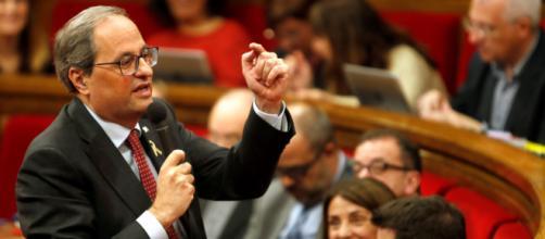 "Torra apuesta por votar ""no"" a Sánchez si no da poder a Catalunya"
