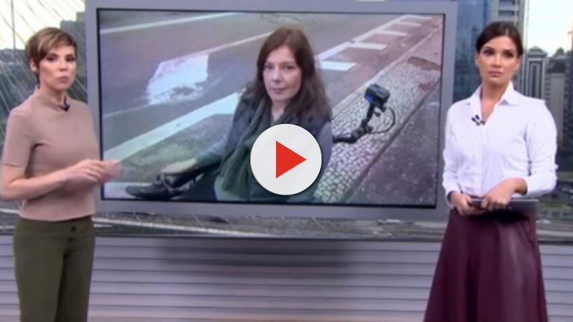 Calçadas e ônibus atrapalham repórter cadeirante da Globo a fazer reportagem