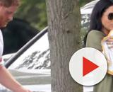 Meghan Markle and baby Archie during first family outing at Prince Harry's Polo Match. [Image source/Access YouTube video]