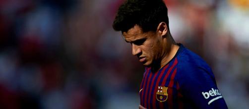 Coutinho durante un encuentro con el Barça