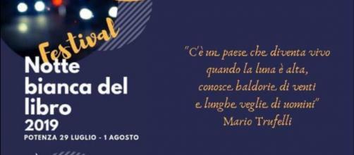 """Locandina della """"Notte bianca del libro 2019"""" - V° EDIZIONE"""