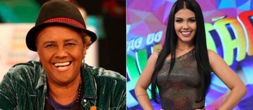 Sandra de Sá e Karina Barros são casadas com outras mulheres. (Reprodução/Rede Globo)