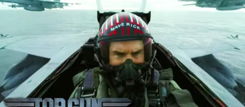 "Tom Cruise surprised fans at Comic-Con with release of ""Top Gun: Maverick"" trailer. [Image Credit] Entertainment Tonight/YouTube"