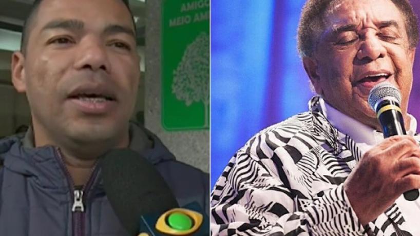 Filho de Agnaldo Timóteo diz que o pai perdeu 25 kg após AVC: 'vão tomar um susto'