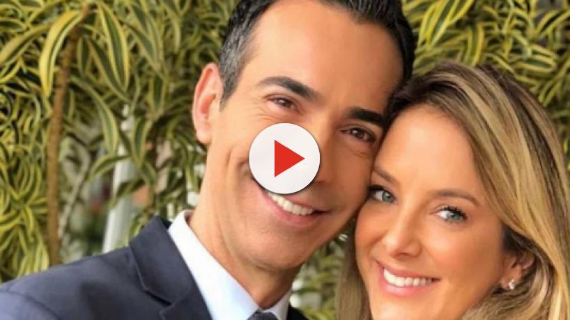 César Tralli faz declaração para filha ao postar foto em rede social: 'sublime amor'