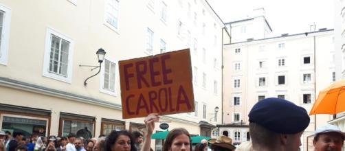 Manifestanti a Salisburgo, Austria