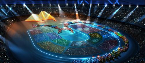Universiadi 2019, il San Paolo durante la cerimonia inaugurale via fanpage.it