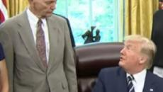 Donald Trump meets Buzz Aldrin and Michael Collins on 50th anniversary of moon landing