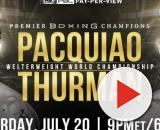 Manny Pacquiao vs Keith Thurman sabato 20 luglio a Las Vegas