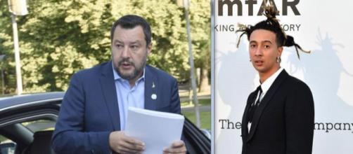Ghali definisce fascista Matteo Salvini