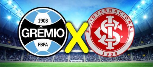Grêmio e Internacinal se enfrentam pelo Brasileirão. (Reprodução/Mlstatic-Montagem Russel)