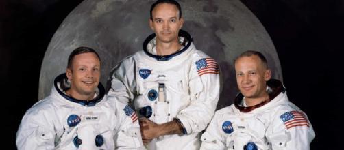 Os astronautas americanos que alcançaram a Lua: Neil Armstrong, Edwin Aldrin e Michael Collins. (Arquivo Blasting News)
