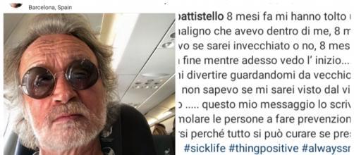 Lorenzo Battistello ha avuto un tumore