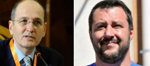 Nando Pagnoncelli e Matteo Salvini