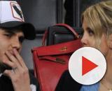 Icardi sempre più interessato alla proposta del Napoli, Wanda Nara su Instagram con gli occhi colorati d'azzurro.