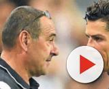 Sarri-Ronaldo alla sostituzione