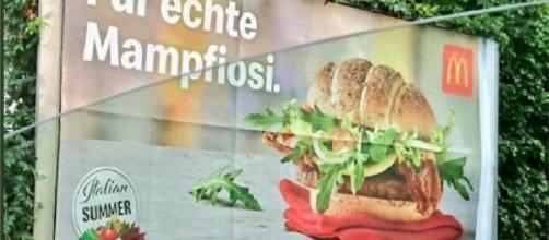 Austria, slogan pubblicitario McDonald's indigna l'Italia