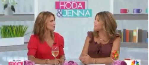 Jenna Bush Hager (R) was completely taken with the new Simba on 'Today.' [Image source: TODAY/YouTube]