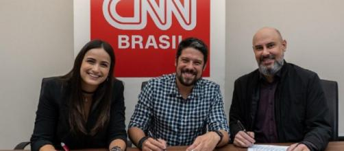 Mari Palma e Phelipe Siani deixaram a Globo. (Divulgação/CNN Brasil)