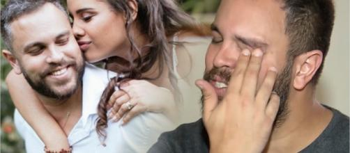 Orlando não segurou as lágrimas ao falar da ex-noiva. (Fotomontagem)