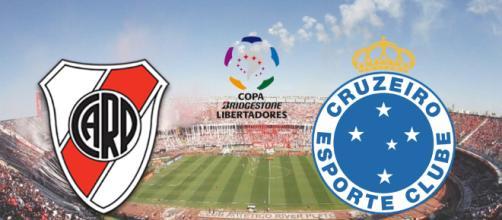 River Plate x Cruzeiro ao vivo no SporTV. (Fotomontagem)