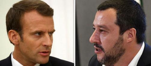 Scontro aperto tra Macron e Salvini sui migranti