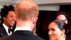 Meghan Markle meets her college friend Billy Eichner at the 'The Lion King' premiere