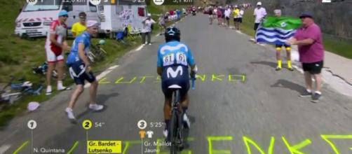 Nairo Quintana all'attacco sul Galibier