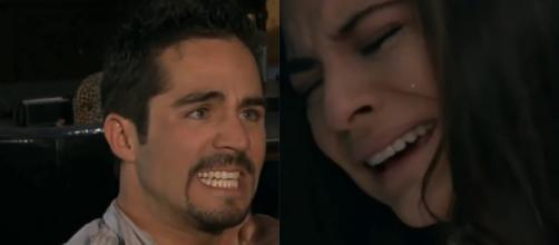 Gustavo leva uma surra por causa de Ana Paula. (Reprodução/Televisa)