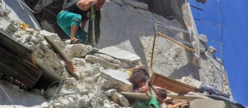 La última foto viral del bombardeo en Siria