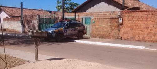 Polícia isolou a área. (Divulgação/Polícia Militar)