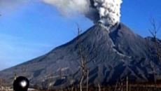 Tourists scurry for cover as Mount Tangkuban Parahu volcano erupts in Indonesia
