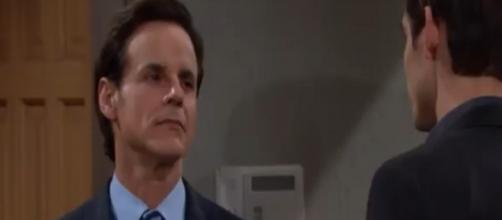 Days of Our Lives: Michael stands his ground with Adam (Image source - DOOL Twitter verified account)