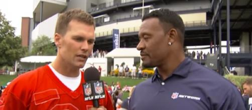 Tom Brady discusses the challenges facing the Patriots without Gronkowski. [Image Credit: NFL Network/YouTube]