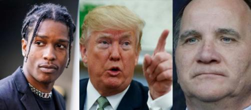 ASAP Rocky, Donald J. Trump e Stefan Löfven.