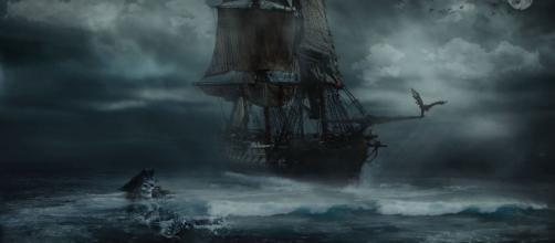En el Mar Báltico, aparece un barco de la época de Colón