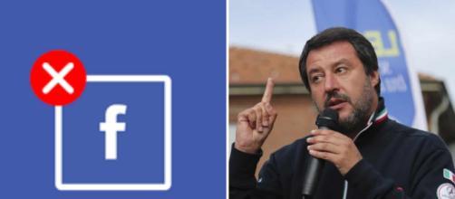 Facebook rimuove alcuni post della Lega. foto - tpi.it