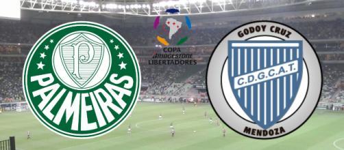 Palmeiras x Godoy Cruz: onde assistir e prováveis escalações. (Fotomontagem)