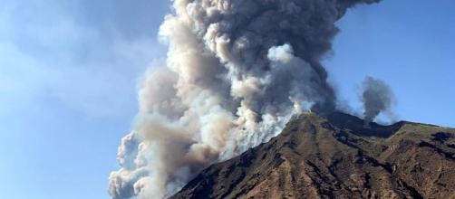 El volcán Stromboli, este miércoles.