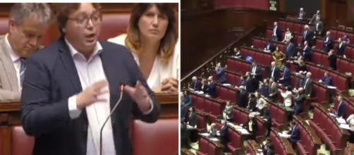 Giancarlo Iezzi (Lega), protagonista di un duro intervento contro i deputati del Pd