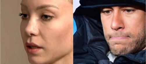 A modelo registrou ocorrência contra Neymar sob a acusação de estupro, no dia 31 de maio. (Reprodução/Instagram/@neymarjr/ SBT)