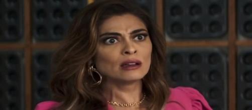 Maria da Paz fica transtornada ao descobrir traição. (Reprodução/ TV Globo)