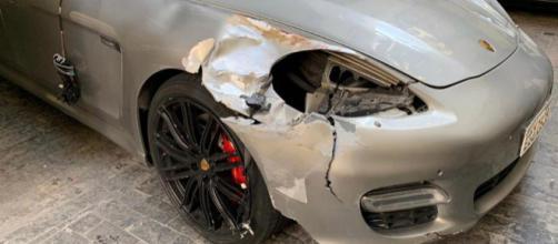 Motorista do Porsche fugiu do local sem prestar socorro à vítima. (Divulgação/Polícia Civil)