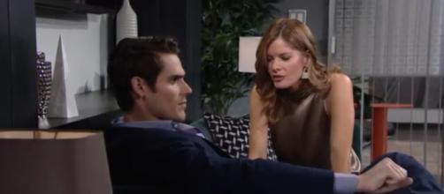 Adam crushes Phyllis but she keeps trying to best him. [Image Source: Soap Central- YouTube]