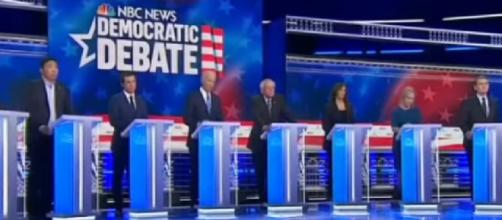 The Countdown: Round 2 of Democratic presidential debates. [Image source/Eyewitness News ABC7NY YouTube video]