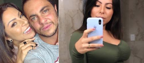 Casal espera o primeiro filho. (Reprodução/Instagram/@thammymiranda/@andressaferreiramiranda)
