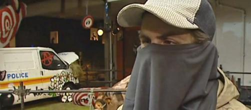 A 2003 ITV interview allegedly with Banksy has come to light. [Image ITV News/YouTube]