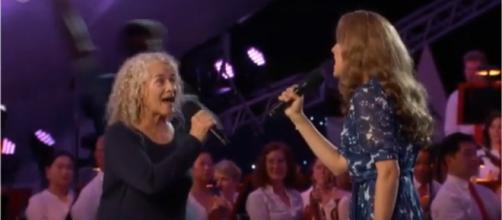 "Carole King, Vanessa Carlton, and the cast of ""Beautiful"" bring heart to ""A Capitol Fourth."" [Image source:vSpirit2-YouTube]"