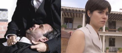 Il Segreto, trame spagnole: Fernando spara a Carmelo e manipola Maria contro Raimundo