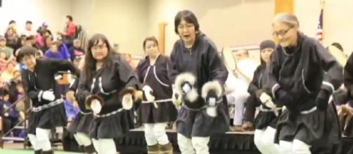 Inuit culture and dancing in Barrow, Utqiagvik, Alaska. [Image source/BourgeoisPhotography YouTube video]